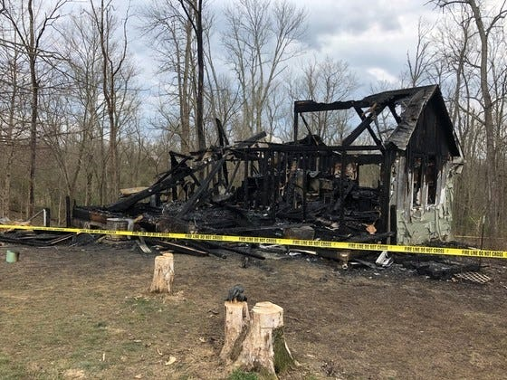 Six people were killed in a house fire in Switzerland County, Indiana March 28, 2020.