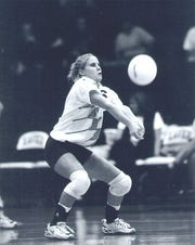 Beth Osterday, volleyball player for Xavier University.