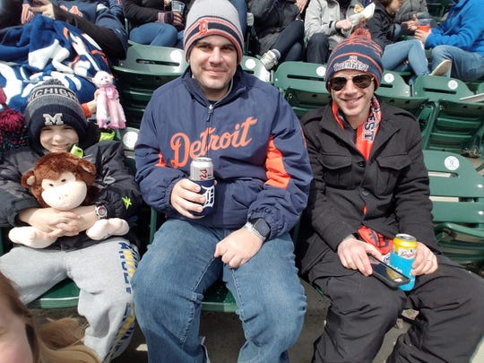 Mark Hensler, center, at a recent Opening Day.