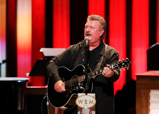 """Joe Diffie performs at """"Luke Combs Joins the Grand Ole Opry Family"""" at Grand Ole Opry on Tuesday, July 16, 2019 in Nashville, Tenn. (Photo by Al Wagner/Invision/AP)"""