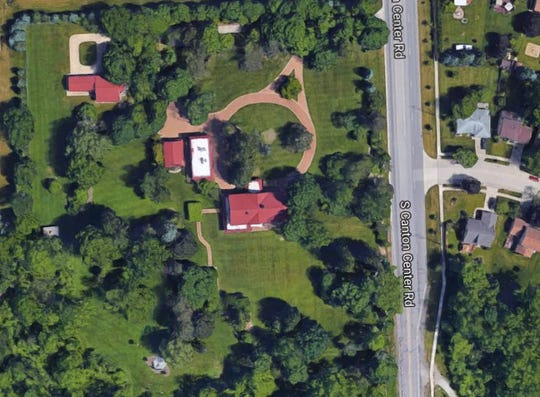 A bird's-eye view of the 20-acre Haggerty House property.