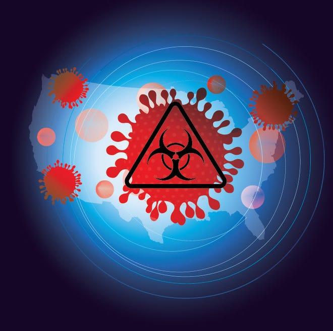 Coronavirus world illustration