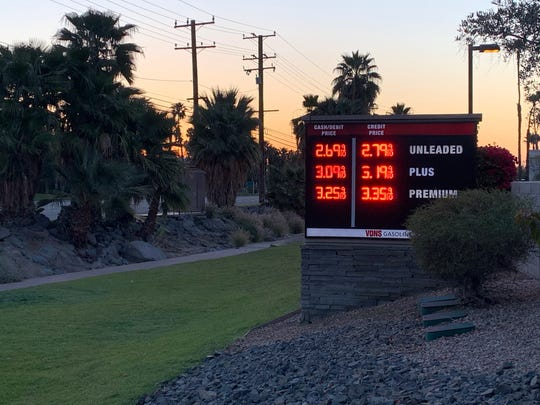 Vons advertises a gallon of regular unleaded gasoline for $2.69 Sunday, March 29, 2020. Low demand has contributed to the drop in oil prices, which has led to a lower cost of driving.