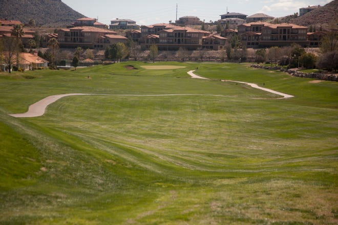 St. George City officials close city golf courses, including Sunbrook, in an effort to minimize the spread of COVID-19 Saturday, March 28, 2020.