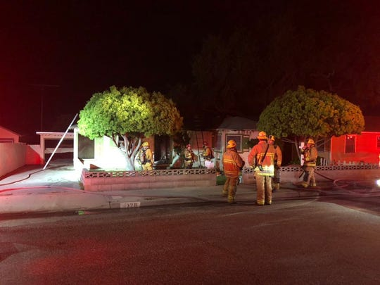 A fire inside a vacant house in Santa Paula was knocked down by 8:30 p.m. on Saturday night.