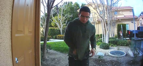 This photo captures a suspect who is believed to have stolen a package from the front porch of a Simi Valley residence earlier this month.
