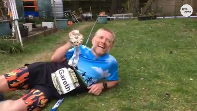 Working out from home but want to run a marathon? Here's how one man did just...