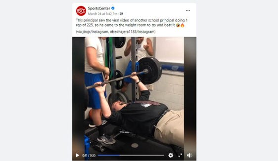 Polk County Principal Dr. Brandon Schweitzer became a viral star after a video of him in the weight room was picked up by SportsCenter.
