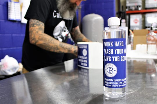 Coastal Bend Distilling, Co. in Beeville started offering sanitizer to the public March 30.
