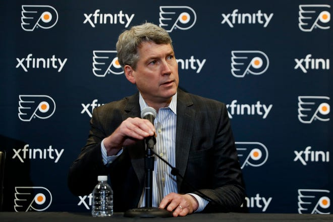 Chuck Fletcher's cell phone has been busy as the Flyers' general manager tries to check in with everyone during the NHL's paused season.