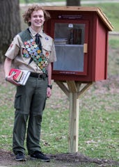 Chillicothe High School junior Oscar Mikus, who is a member of Boy Scouts of America Troop 14, built the Little Free Libraries as part of his Eagle Scout project to help distribute books to local residents as the library remains closed due  to the coronavirus closures that effect the local libraries.