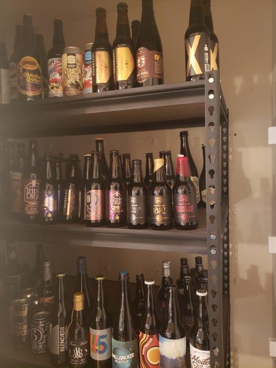 Enquirer beer writer Matt Koesters' beer cellar.