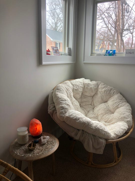 Donna Kass transformed a small room in her home to a meditation room.