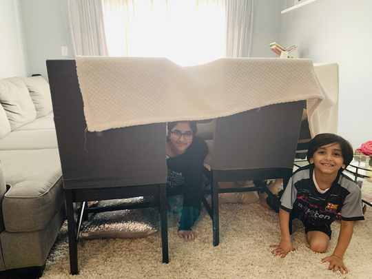 Wednesday, March 25, was Fort Day where students were encouraged to build a fort inside or outside.