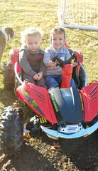 Bodey, 4, and Carter, 2, Lowe keeps the rest of the family busy chasing them outside on nice days showing staying at home doesn't have to be all bad.