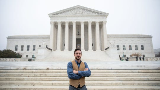 James King of Grand Rapids outside of the U.S. Supreme Court