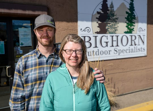Chris and Beth Leatham, owners of Bighorn Outdoor Specialists, say that they have started using a new online shopping service to help fulfill their customers needs as the nation practices social distancing.