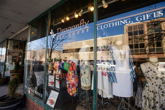 Dragonfly Dry Goods on Central Avenue in downtown Great Falls, March 26, 2020.