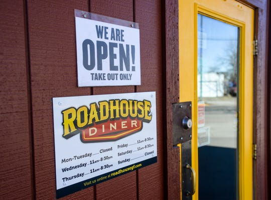 Restaruants and food services, including the Roadhouse Diner, are still open for takeout orders after Governor Steve Bullock declared a shelter in place order for the state that started on Saturday, March 28.