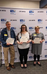 Paul Loxley, Erin French, and Kristy Joiner were among award winners including the award for Employee Campaign Manager Certificate.