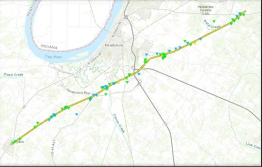 This graphic from the National Weather Service shows the path of the tornado Saturday night, March 28, 2020.