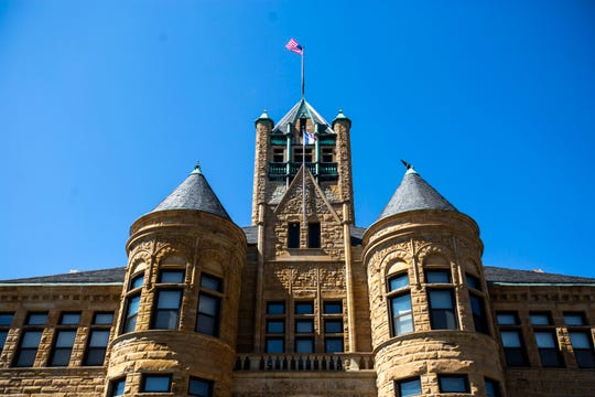 The Johnson County Courthouse is seen, Monday, March 30, 2020, at 417 S Clinton Street in Iowa City, Iowa.