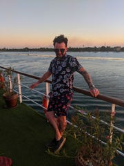 Brighton resident Tyler Muzzin hangs out on the deck of a cruise ship on the Nile River in Egypt, in March 2020, as the new coronavirus spreads across in the world.