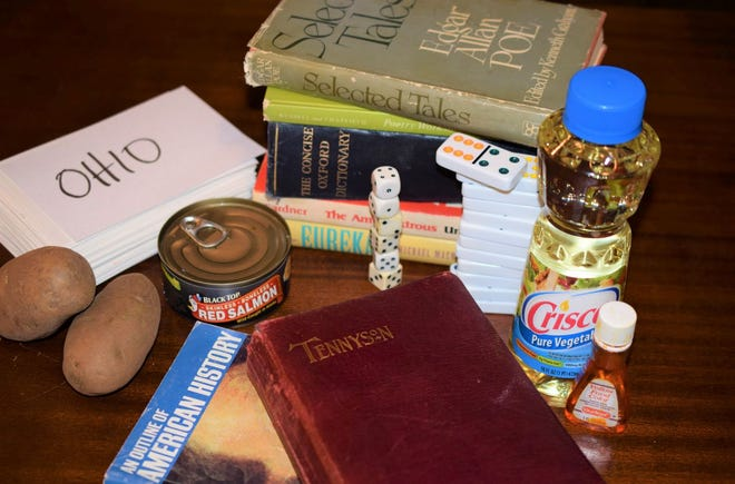 Household items for activities for the homebound.