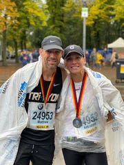 Former NASCAR driver Matt Kenseth and his wife, Katie, made their marathon debut in Berlin, Germany, in 2019.