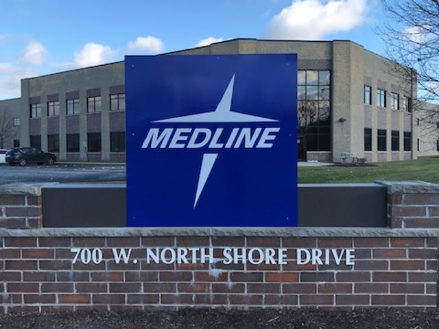 Medline's 300,000-square-foot Hartland facility will now produce hand sanitizer. The company estimated 150,000 bottles will be produced each week by mid-April.