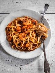 Lucien's shrimp spaghetti