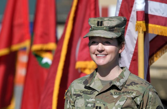 Capt. Hannah Gibbs is a National Guard soldier from the Nashville area who works normally in wedding and event sales.