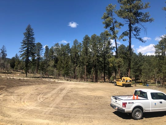 A new area was cleared to create an equestrian parking lot to accommodate horse trailers at Grindstone Lake.