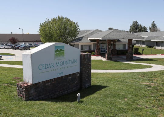 Cedar Mountain Post Acute Rehabilitation is a 24 hour nursing care facility in Yucaipa, March 30, 2020.