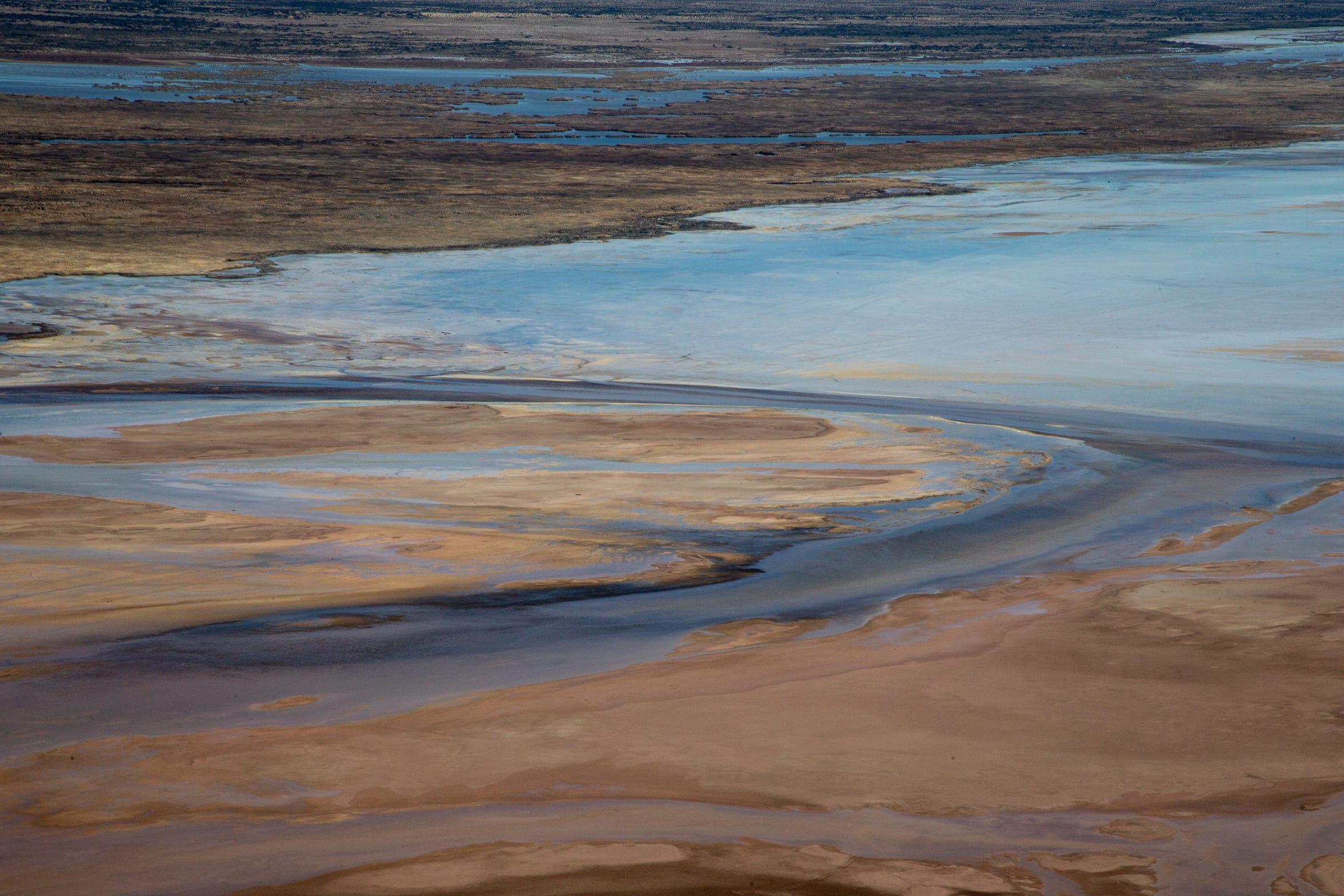 Los humedales y marismas de la Cienega de Santa Clara son parte de la Reserva de la Biosfera del Delta del Río Colorado en Sonora, México.