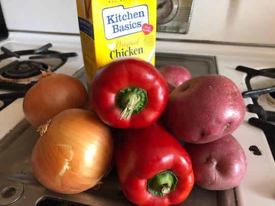 I made a chicken corn chowder (practically) from scratch.