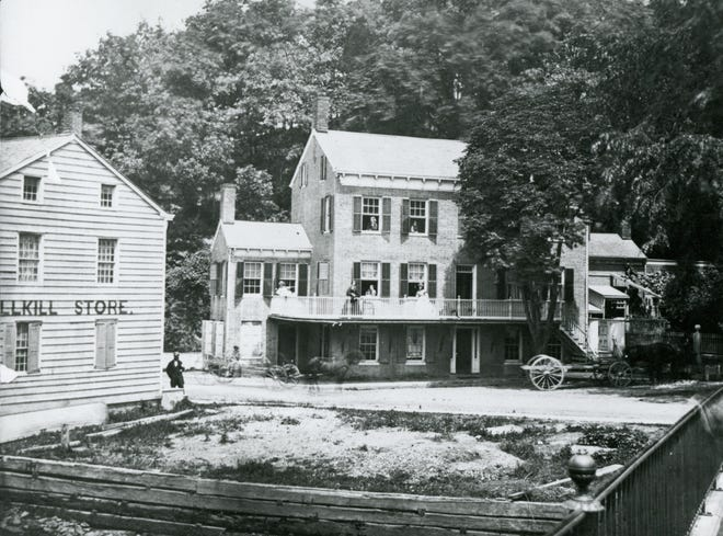 Vintage image of Reynolds House when the family lived at Upper Landing and operated a grocery store on the lower level.