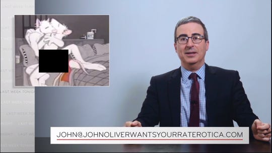 """John Oliver of """"Last Week Tonight"""" is looking for a this watercolor, titled """"Stay Up Late,"""" by York-area artist Brian Swords."""