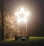 The Glen Rock star has been illuminated to spread hope during the coronavirus pandemic.