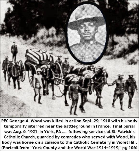 George A. Wood died in fighting in World War I.