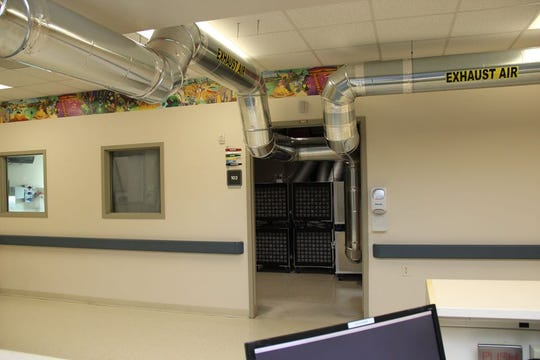 Peninsula Regional Medical Center's former emergency department pediatric unit has been repurposed into a unit for treating COVID-19 patients.