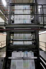 Scenes from the final press run on the Springfield News-Leader's press on Sunday, March 29, 2020. Printing operations for the News-Leader have been moved to Columbia, Mo.
