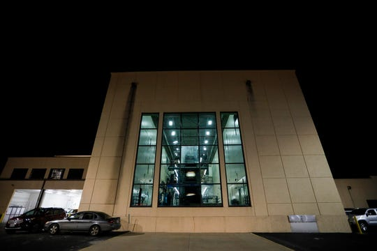 A view of the Springfield News-Leader's press from the outside window on the night of the final press run on Sunday, March 29, 2020. Printing operations for the News-Leader have been moved to Columbia, Mo.