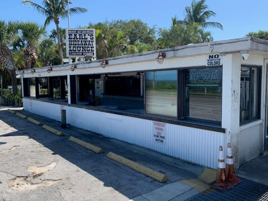 On a normal Sunday in March, Earl's Hideaway on Indian River Drive in Sebastian would bustling with traffic, including motorcyclists. On March 29, 2020, amid a COVID-19 threat, the lounge and tiki bar were closed. It offered takeout food only.