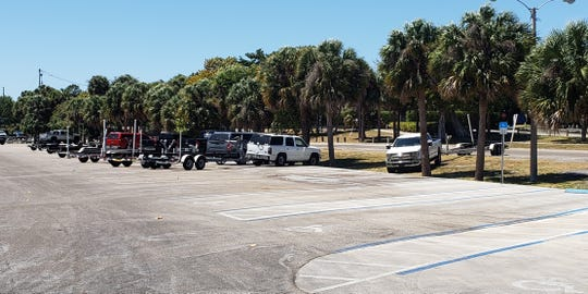 There were 21 boat trailers at Sandsprit Park in Stuart at noon March 28, 2020. County leaders closed the boat ramps with limited exception at Sandsprit amid COVID-19 fears.