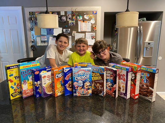 The Dugan boys of Mamaroneck, from left: Max, 10, Drew, 5, and Sebastian, age 12. Mom Jonna allows them a spoon or two in the morning and a small bowl in the afternoon if they get all their schoolwork done.