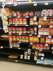 Ferne D., my Instacart shopper, sent me a photo of a store shelf in the grocery store to see if I wanted another selection for an item she couldn't find.