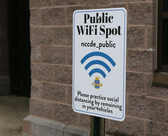 New Castle County is offering Wi-Fi hotspots to the public starting at eight locations on Monday.