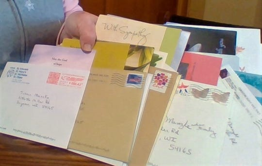 Just a sample of the cards that came to the Manzke family from friends and readers who are also friends.