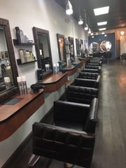 The inside of Salon Works in Wall Township - David Clark, owner